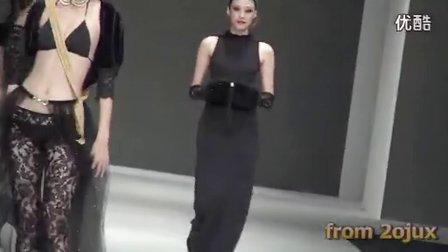 2012台北黑色性感透明薄纱材质内衣秀 高清