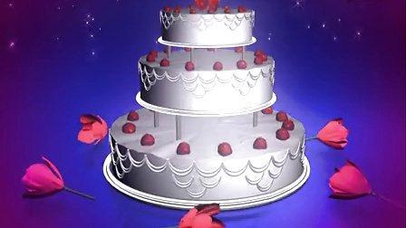 婚礼蛋糕动态视频素材_54_190
