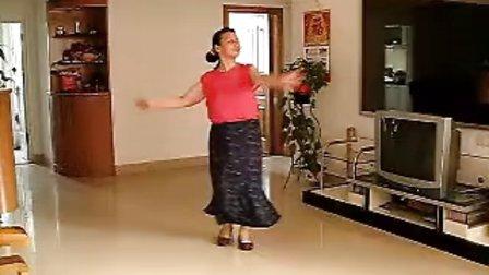 广场健身舞学跳傣族舞