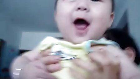 白皙可爱又文静的小外甥