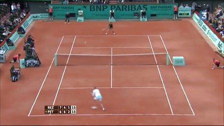 2010法国网球公开赛女单R3 佩特洛娃VS雷扎伊 (自制HL)
