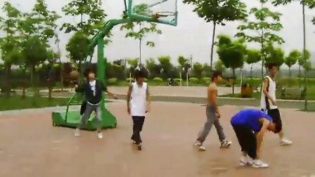 咸阳湖边打篮球