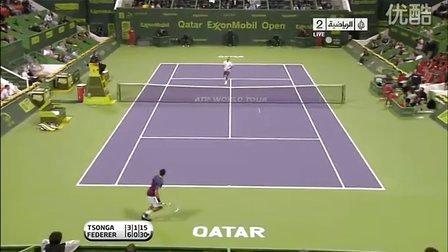 ATP.2011.Doha.SF.Tsonga.vs.Federer HL