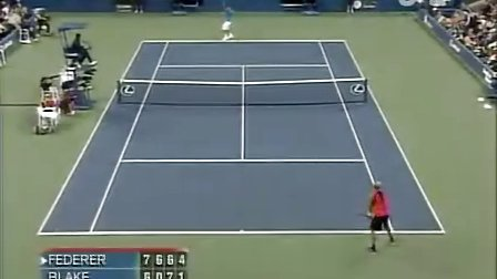 2006 美网qf 费德勒vs布莱克 set4