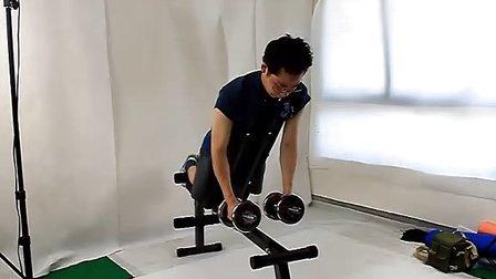 哑铃凳锻炼方法