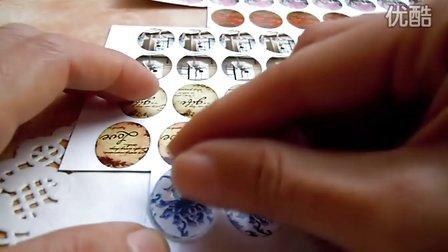 DIY手工-DIYLA-美国宝石胶与玻璃片胶贴用法滴胶教程密码:diyla520