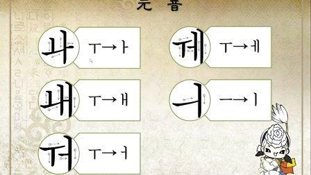 韩语学习 第一课:韩语基础入门教学视频 韩语双元音 紧音