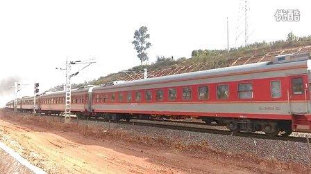 昆玉铁路 DF8B K9652(K9653)次列车 昆明-蒙自北 加速出站 (HDR模式拍摄)