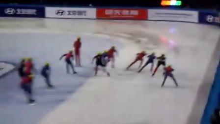 【2010-2011短道速滑世界杯上海站】男子接力决赛——超激烈,中国男子很棒,虽败犹荣!!!