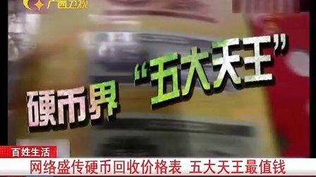 网络盛传硬币回收价格表 五大天王最值钱 101029 新闻夜总汇