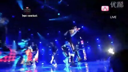100415 Mnet M!Cout Down  RAIN  - Hip Song