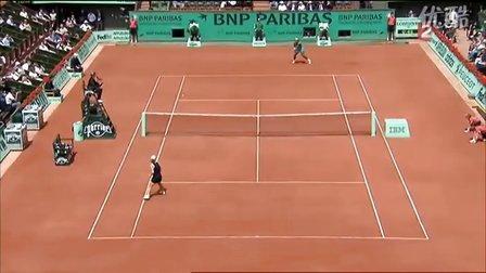2010法国网球公开赛女单QF 小威廉姆斯VS斯托瑟 (自制HL)