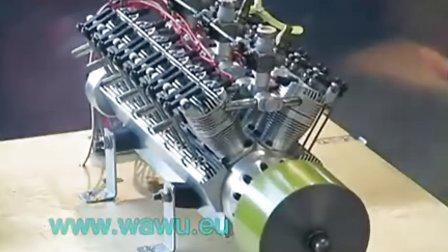 国外RC V12 发动机