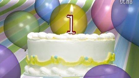 儿童生日蛋糕视频素材01