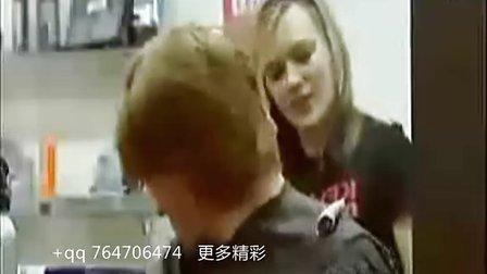 美女理发师恶搞男顾客(美女网  www.kaixin3q.com)