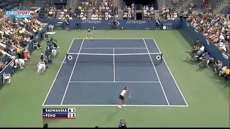 2010美国网球公开赛女单R2 A·拉德万斯卡VS彭帅 (自制HL)