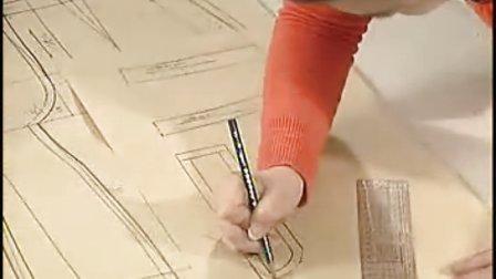 服装裁剪技法:女连腰宽脚裤(下)