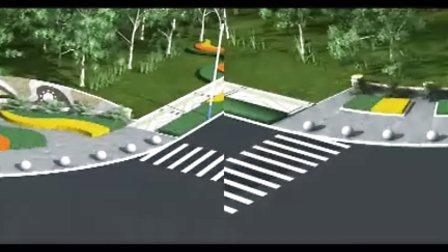 青岛高新区道路绿化展示