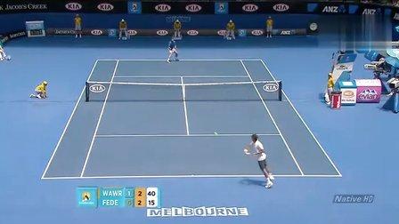 2011澳大利亚网球公开赛男单R4 费德勒VS瓦林卡 HL