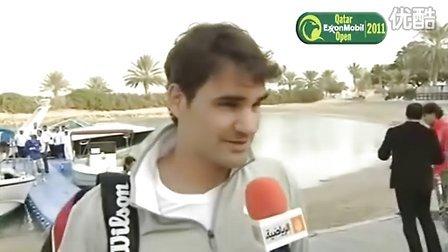 [清晰版加访问]费德勒和纳达尔在多哈以水上网球的形式为ATP2011赛季开幕