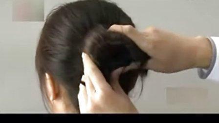 美发达人教你简单盘头发的方法视频