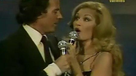 胡里奥和达丽达两位巨星演绎经典老歌 La vie en rose玫瑰色的人生