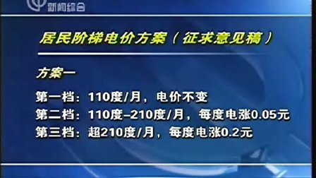 国家发改委就实行居民阶梯电价公开征求意见 101009 午间新闻