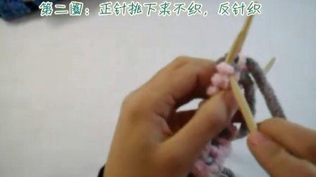 小白编织 袜子(圣诞袜 )织法第一集  围巾 视频教程