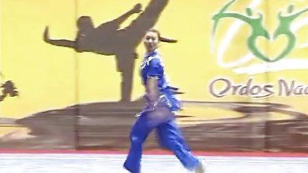 第二届鄂尔多斯国际那达慕大会武术比赛 女子 长拳 010 廖绮妍(香港)