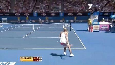 2011澳大利亚网球公开赛女单SF 李娜VS沃兹尼亚奇 (自制HL)