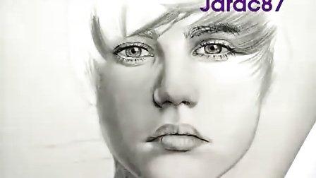 国外牛人手绘Justin Bieber