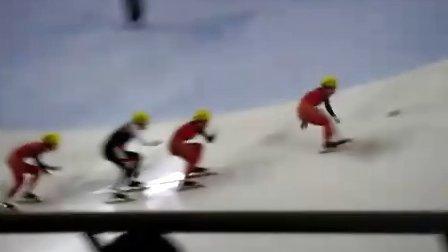 【2010-2011短道速滑世界杯上海站】女子500米决赛 赵楠楠金牌