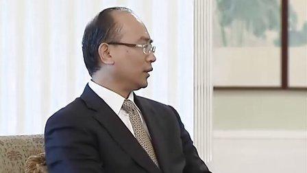 行政长官曾荫权在香港会见深圳市市长许勤