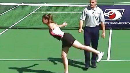 网球热身必备练习 - 腿腱倒转