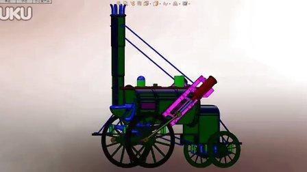 SolidWorks基础教程应用作品-火车头