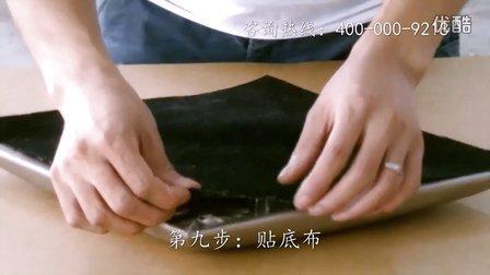 软包制作工艺第九步:贴底布_明宏公司软包技术培训中心软包安装