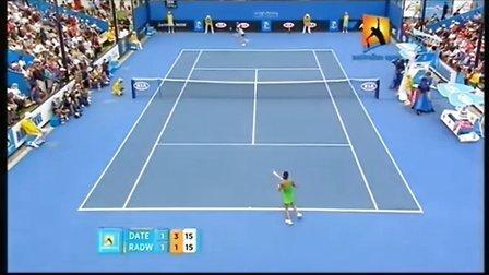 2011澳大利亚网球公开赛女单R1 A拉德万斯卡VS伊达公子 SET 3