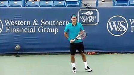 费德勒高清练习慢动作-v1tennis.com-最专业的网球技术网站
