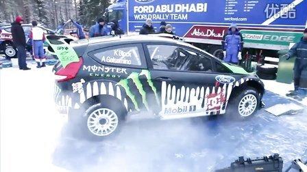 于WRC2011赛季开赛前 Ken Block答车迷问