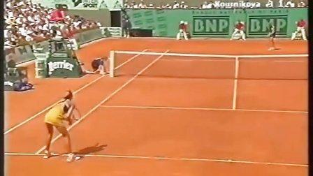 1999法国网球公开赛女单R4 格拉芙VS库尔尼科娃