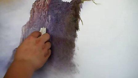 杨松刀画11集第三集 油画 绘画 吉林刀画 东北刀画 长白山刀画 视频 现场 东北亚刀画 国画教育