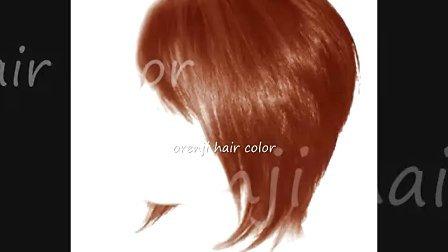 时尚橘色中短发系列展示