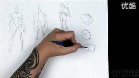 高级动态形体(人体)绘画教程1