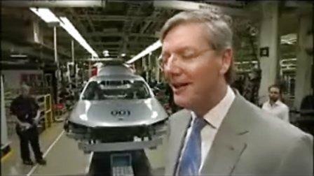 SAAB萨博汽车重新开张生产001号新牌头车.