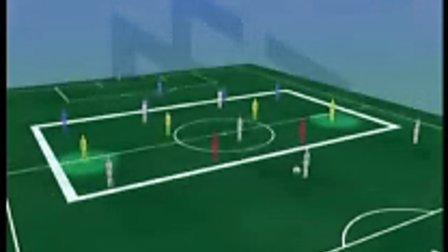 协同逼抢:根据球的走向收缩包围圈