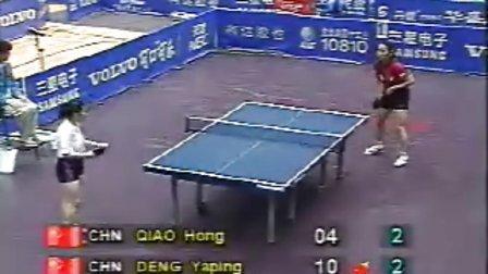 1995年世乒赛女单决赛邓亚萍vs乔红决胜局