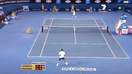 2011澳大利亚网球公开赛男单SF 费德勒VS德约科维奇
