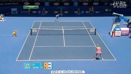 2011澳大利亚网球公开赛女单R4 李娜VS阿扎伦卡 (自制HL)