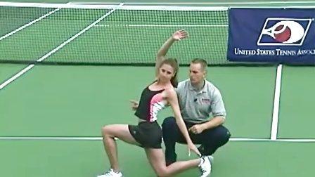 网球热身必备练习 - 后弓步扭动