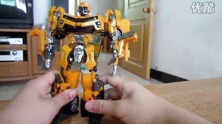 小叶的变形金刚玩具介绍视频21 09电影联盟级大黄蜂(下)